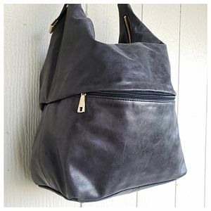 HOBO Int'l Large Glazed Leather Bag